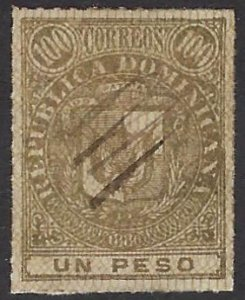 DOMINICAN REPUBLIC 53 used SCV $7.00 BIN $2.80 COAT OF ARMS