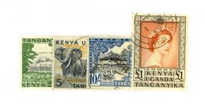 Kenya, Uganda and Tanzania Scott 114-117     [ID#429482]