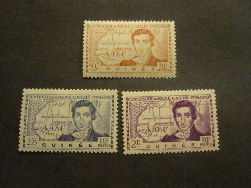 French Guinee #161-63 Mint Hinged - WDWPhilatelic