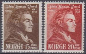 Norway #251-2 F-VF Unused (B6782)