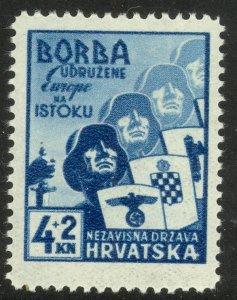 CROATIA 1941 CROATIAN VOLUNTEERS in The EAST Semi Postal Scott No. B6 MLH