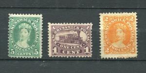 New Brunswick 1860-3 Sc 6-8 MH  Cv $100