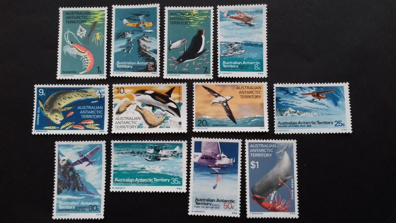 Australian Antarctic 1973 Marine Life and Aircraft in Antarctica Mint