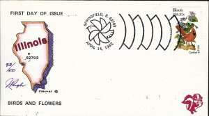 Beautiful Pugh Designed and Painted Illinois FDC -only 50 created...