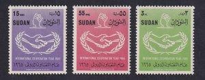 Sudan  #182-184   MNH  1965  international cooperation emblem