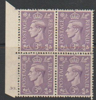 GB George VI  SG 490 MM Control none  Cyl 30 Dot
