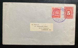 1896 Leon Nicaragua Postal Stationery Uprated Cover To London England