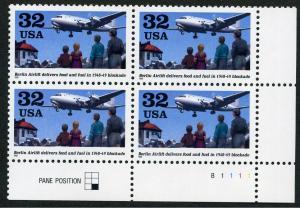 Scott #3211 - Berlin Airlift - Plate Block - MNH