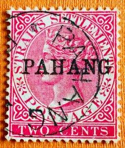 Malaya PAHANG 1890 opt Straits Settlements QV 2c Used SG#6 M2980