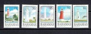 BAHAMAS - 2004 LIGHTHOUSES - SCOTT 1110 TO 1114 - MNH