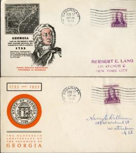 #726-1, 2 DIFF CACHET FDC BY IOOR & LINPRINT BN761