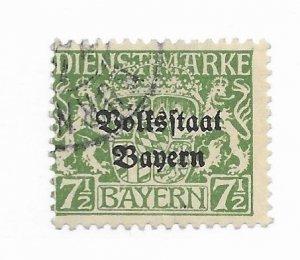Bayern Germany #O22 Used - CAT VALUE $13.00