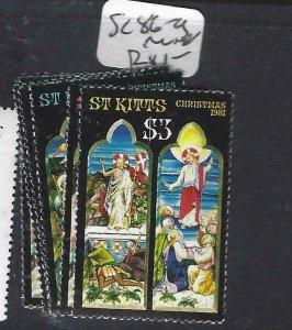ST KITTS    (P0408B) CHRISTMAS SC 86-9   MNH