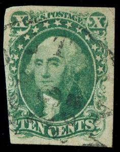 momen: US Stamps #13 Used VF WEISS Cert