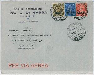 M.E.F. Middle East Forces : POSTAL HISTORY: cover from ASMARA to ROME 1946