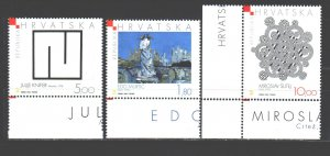 Croatia. 2005. 747-49. Modern painting of Croatia. MNH.