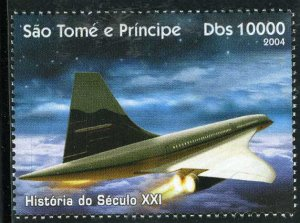 Sao Tome & Principe 2004 CONCORDE 1 value Perforated Mint (NH)