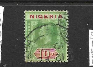NIGERIA  1914-28   10/-   KGV   FU   SG 11b