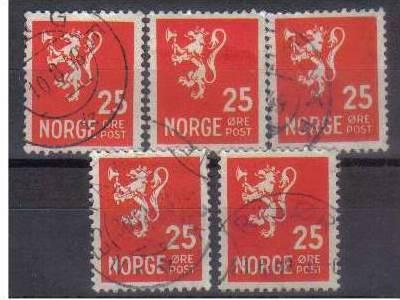 NORWAY, 1926-1937, used 25ore