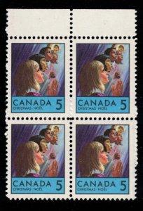 Canada - Christmas 1968  - SC502, 503 Mint Blocks NH