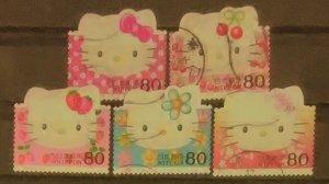 Japan Scott Cat # 2876a-e (2004)