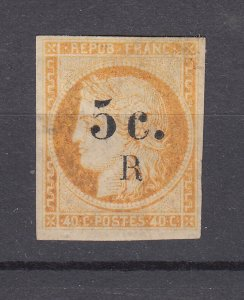 J28838, 1895 french reunion used #6 ovpt