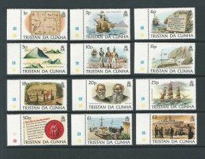 Tristan da Cunha 1983 Island History Unmounted Mint Set SG 349/60