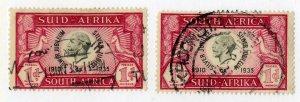 SOUTH AFRICA 69a,b USED BIN $.50 ROYALTY
