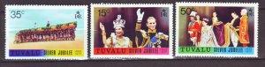 J22223 Jlstamps 1977 tuvalu mnh set #43-5 royality
