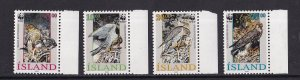 Iceland   #762-765   MNH  1992   WWF  Falcons   birds of prey