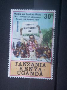 TANGANYIKA, 1961, used 30c, independance. Scott