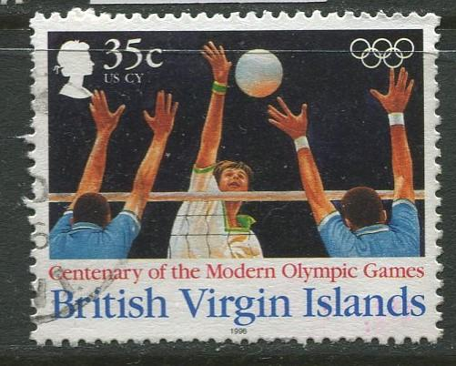 Virgin Is.- Scott 830 - Modern Olympic Games -1996 - Used - Single 35c Stamp