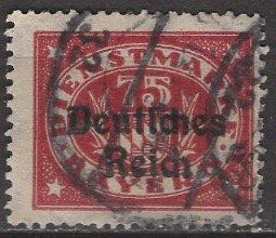 Germany, Bavaria; 1920: Sc. # O61: O/Used Single Stamp