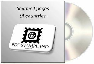 CD Stamp color pages, 91 countries