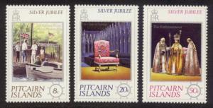 Pitcairn Islands Sc# 160-2 MNH Silver Jubilee