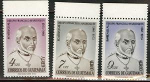 GUATEMALA Scott C316-8 MNH** 1965 Bishop set CV$1.20