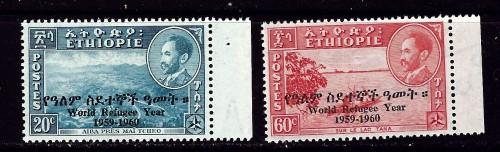 Ethiopia 355-56 NH 1960 World Refugee Year O/P