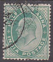 India 78 Hinged Used 1906 King Edward VII