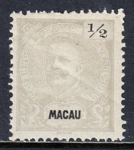 Macao - Scott #75a - P12½ - MH - Diagonal crease - SCV $15