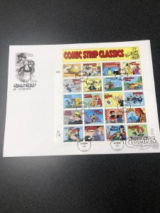 US3000 Comic Strip Classics Souvenir Page First Day Of Issue 1995 Artcraft Cover