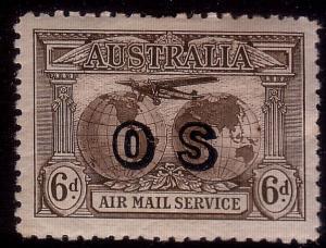 AUSTRALIA 1931 6d OS Kingsford Smith mint hinged. SG139a...................37514