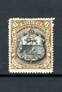 North Borneo 1897-1902 6c Arms of the Company perf 14 1/2-15 MH