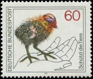 Germany 1981 Sc 1355 Bird Eurasian Coot