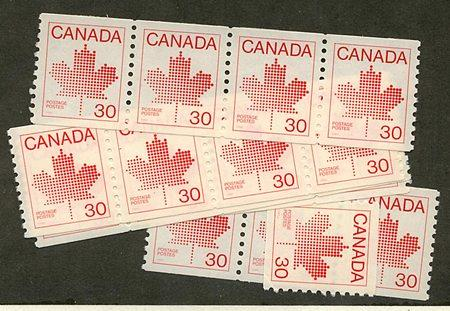 Canada - 1982 30c Maple Leaf Coil X 20 VF-NH #950