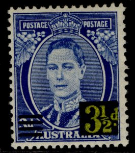 AUSTRALIA GVI SG201, 3½d on 5d bright blue, M MINT.