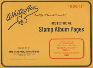 WHITE ACE 2017 US Regular Issue Singles & Coil Pairs Album Supplement RSC-41