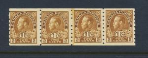 CANADA 1916, 2c WAR TAX PASTE UP STRIP DIE 1, VF NH Sc#MR7a CAT$1750(SEE BELOW