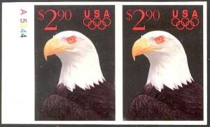 2540, MNH COLOR OMITTED & IMPERF PAIR AWESOME!