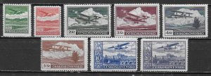 Czechoslovakia C10-17 1930 Airmails set Unused Hinged  (z5)