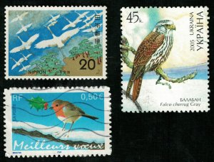 Birds, Japan, France, Ukraine, (2745-T)